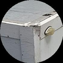 Обработка стыков стен и крыши