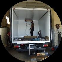 Ремонт крыши фургона
